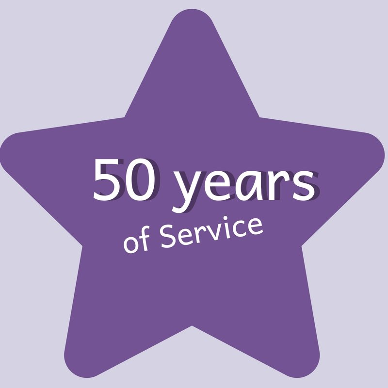 50 years of service logo